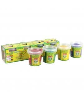 Arcilla de Colores Ecológica - Pack 4 Colores