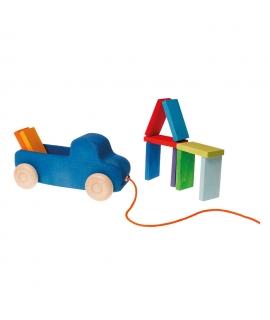 Camión Azul con Bloques