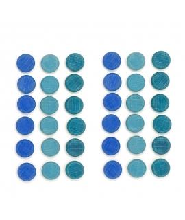 36 Piezas para Mandala - Monedas Azules