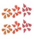 36 Piezas para Mandala - Fuego Rojo