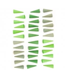 36 Piezas para Mandala - Cono Verde