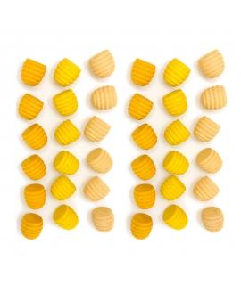 36 Piezas para Mandala - Panal de Abeja Amarillo