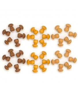 36 Piezas para Mandala - Setas Marrones