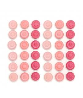 36 Piezas para Mandala - Flores Rosas