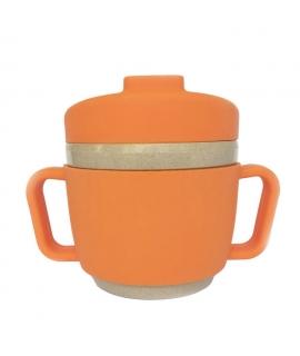 Taza de Aprendizaje de Fibra de Arroz - Naranja