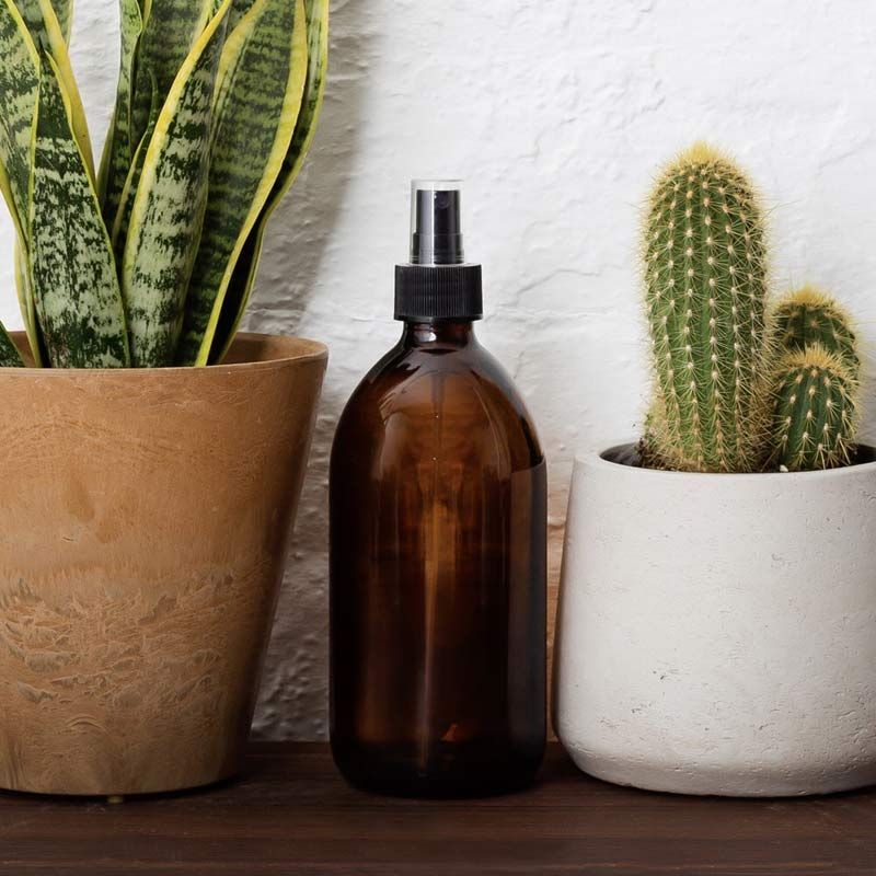 Botella de Vidrio Ámbar - Pulverizador