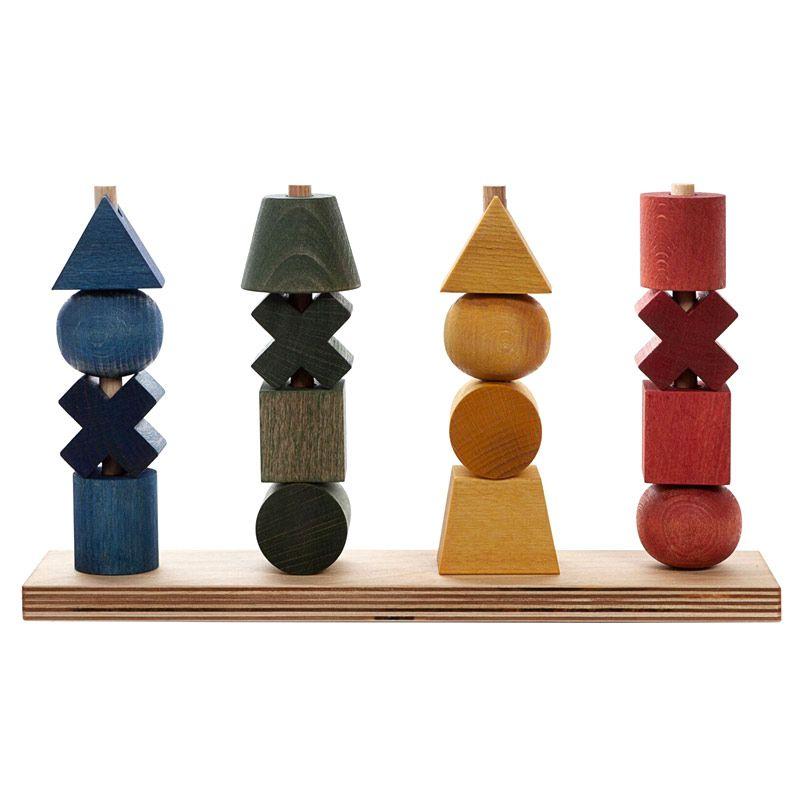 Apilable de Formas XL Rainbow - Wooden Story