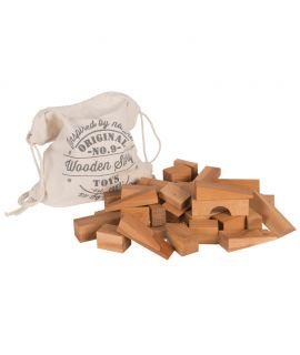 Saco de Bloques Naturales 50 piezas XL - Wooden Story