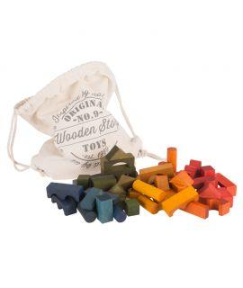 Saco de Bloques Rainbow 100 piezas - Wooden Story