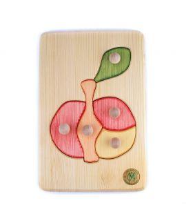 Puzzle con botones - Manzana
