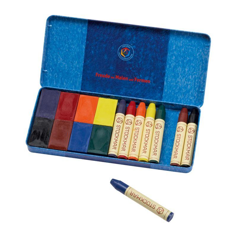8 Bloques y 8 Lápices de Cera 8 colores Waldorf - Stockmar