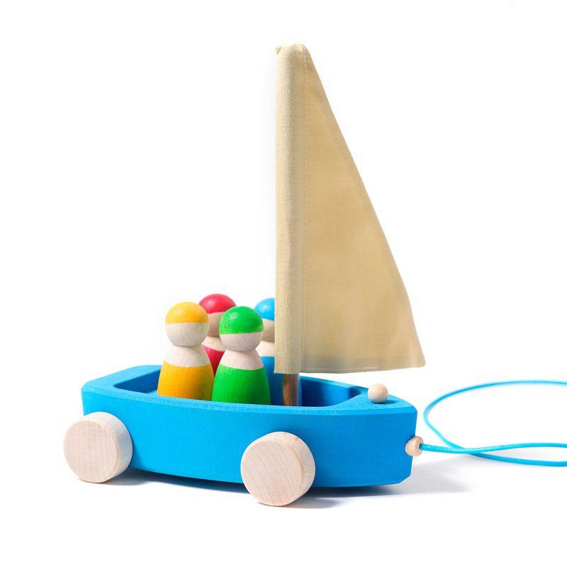 Barco con ruedas y 4 Marineros - Grimm's