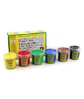 Pintura de Dedos Ecológica - Pack 6 Colores Classic