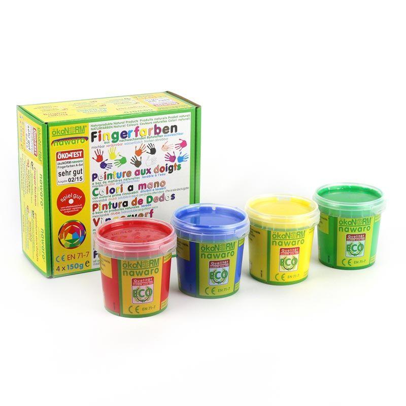 Pintura de Dedos Ecológica - Pack 4 Colores