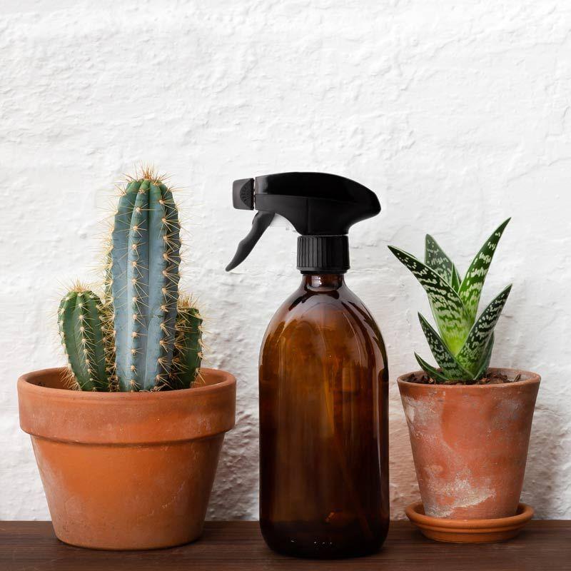 Botella de Vidrio Ámbar 500ml - Spray