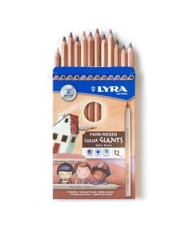 Lápices de Madera 12 colores Skin Tones