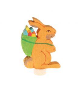 Conejo con cesto para el Anillo de Celebraciones - Grimm's