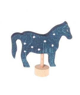 Caballo Azul Figura para el Anillo de Celebraciones - Grimm's